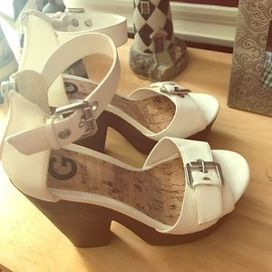 Super cute on. Guess wedges 7.5 good condition